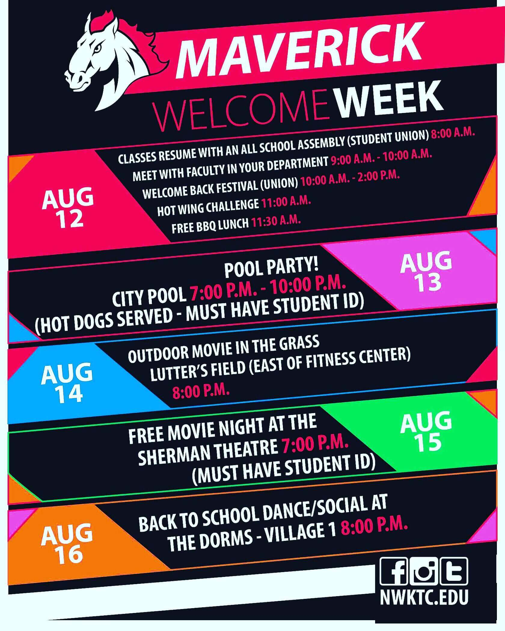 Maverick Welcome Week Poster