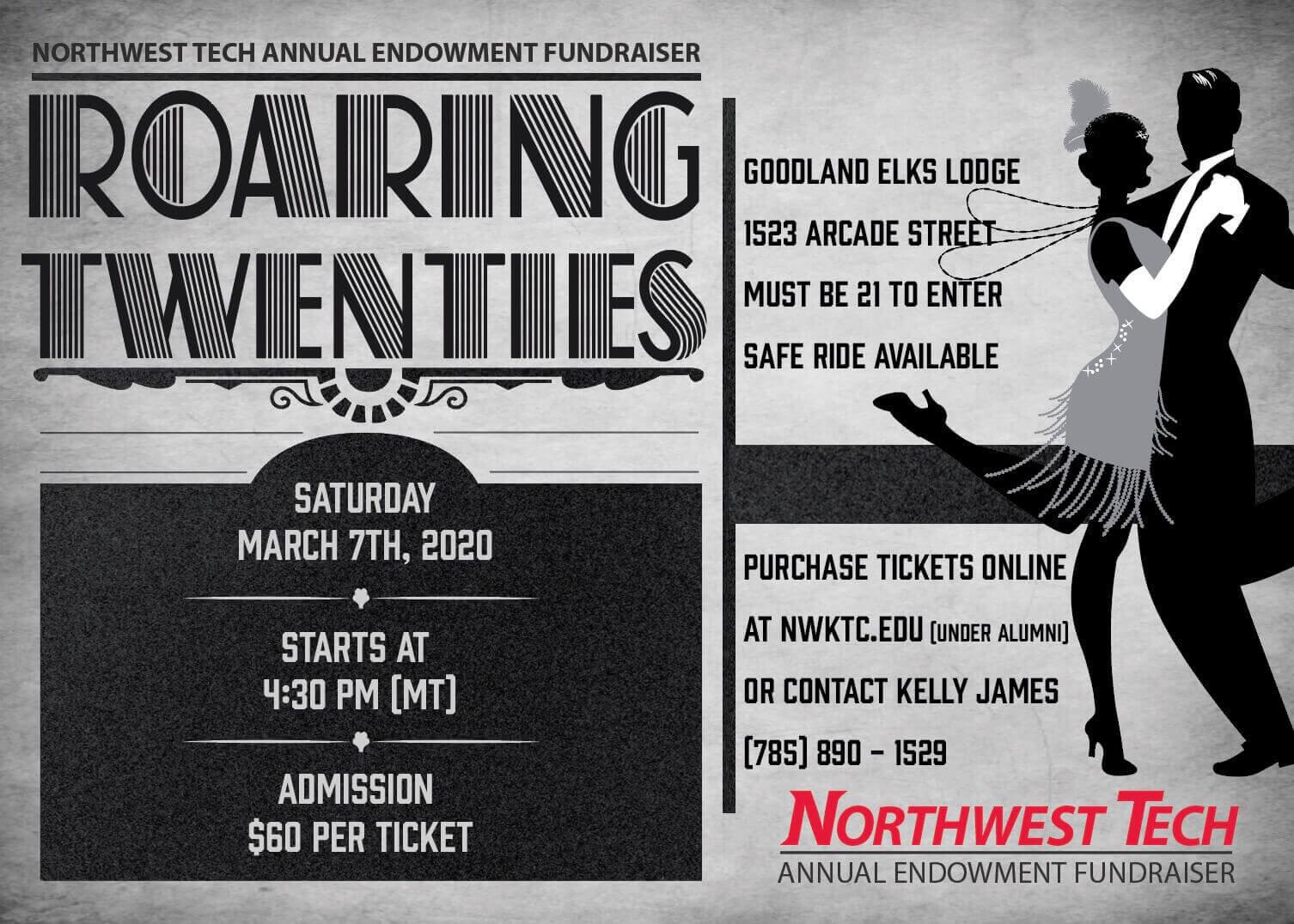 Roaring Twenties Invitation NWKTC Endowment