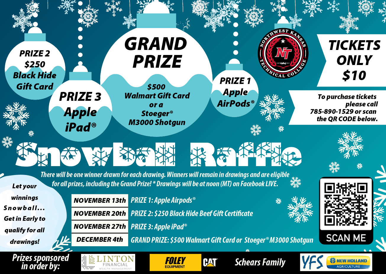 Snowball Raffle Prize Poster